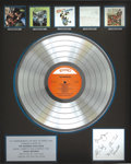 Music Memorabilia:Awards, The Monkees Limited Edition Autographed RIAA Multi-Platinum SalesAward. Multi-platinum award released to commemorate the sa...(Total: 1 Item)