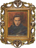 Movie/TV Memorabilia:Original Art, Bela Lugosi Painting by Richard Sheffield. Bela Lugosi, Hollywood'simmortal Count Dracula, seems to inhabit this portrait, ... (Total:1 Item)