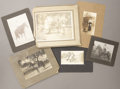Photography:Cabinet Photos, LOT OF SIX MOUNTED COWBOY IMAGES - ca.1890-1910. A nice lotfeaturing a hand-marked Missoula, Montana image and a studio mar...