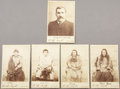 "Photography:Cabinet Photos, QUADRUPLE INDIAN HANGING, MISSOULA, MONTANA DEC. 19TH 1890. Inscribed on reverse: ""Bill Houston, the first sheriff of Miss..."