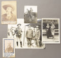 "Photography:Cabinet Photos, LOT OF FIVE BUFFALO BILL CODY IMAGES - ca.1890-1915. This lot ishighlighted by a 10""x 8"" image of Buffalo Bill in costume d...(Total: 1 Item)"