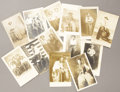 """Miscellaneous:Postcards, LOT OF THIRTEEN REAL PHOTO POSTCARDS """"COWBOY"""" DRESS-UP IMAGES -ca.1905-1925. This lot features a rare image of an African-A...(Total: 12 Items)"""