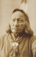 Photography:Official Photos, BARRY IMAGE OF RUNNING ANTELOPE IN ORIGINAL FRAME. Revered Lakota Sioux warrior and orator, Chief Running Antelope, was one ... (Total: 1 Item)