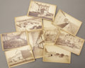 Photography:Cabinet Photos, LOT OF NINE CANON CITY, COLORADO PRISON PHOTOGRAPHS 1880s. Canon City, Colorado Territorial Prison established 1871. This ... (Total: 1 Item)