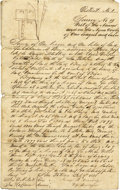Western Expansion:Cowboy, BEXAR COUNTY, REPUBLIC OF TEXAS RARE EARLY SURVEY 1838 - Thisdocument describing a land survey in Bexar County, San Patrico...