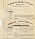 Western Expansion:Cowboy, WELLS FARGO & CO. SHIPPING GOLD BULLION BARS, LOT OF (4)RECEIPTS 1868 - Wells, Fargo & Company, Helena MontanaTerritory, ... (Total: 1 Item)