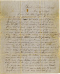 "Military & Patriotic:Indian Wars, CAMPAIGN LETTER ""G. W. HAMMOND"", 1ST U. S. DRAGOON, FT. FILLMORE, TEXAS ( NEW MEXICO) 1851 - Very scarce (2 page) letter/env... (Total: 1 Item)"