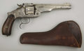 "Western Expansion:Cowboy, SMITH & WESSON MODEL 3 RUSSIAN THIRD MODEL - Serial number46059, circa 1874. 6 ½"" barrel in .44 Russian calibre. Nickel fi...(Total: 1 Item)"