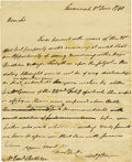 "Autographs:Military Figures, Anthony Wayne Autograph Letter Signed ""Anty Wayne,"" one page, 8"" x 9.75"". Savannah, June 1, 1790, to Edward Rutledge. ..."