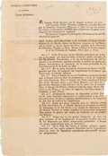 Miscellaneous:Broadside, [Broadside]. Original Issue of a Decree to Establish ConstitutionalLegislatures of the Three Newly Formed States....