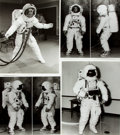 Books:Prints & Leaves, [American Heritage]. Group of Four Photographic Reprints of Flight Suits Used During the Apollo 15 and 16 Missions...