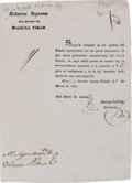 Miscellaneous:Booklets, José Maria de Letona, Newly Elected Governor of Coahuila and Texas,Announces His Election and Assumption of Office....