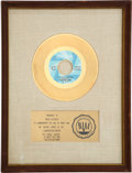 "Music Memorabilia:Awards, Rolling Stones ""(I Can't Get No) Satisfaction"" RIAA Gold RecordAward (London 9766V, 1965)...."
