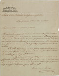 Autographs:Non-American, Mariano Arista Letter Signed....