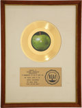 "Music Memorabilia:Awards, Badfinger ""Day After Day"" RIAA Gold Record Award (Apple 1841, 1971)...."
