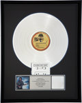 Music Memorabilia:Awards, George Harrison Cloud Nine RIAA Platinum Record Award (DarkHorse Records 1-26543, 1987)....