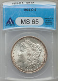 1903-O $1 MS65 ANACS. NGC Census: (1322/388). PCGS Population (2091/685). Mintage: 4,450,000. Numismedia Wsl. Price for...