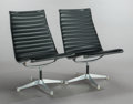 Furniture : American, CHARLES EAMES (American, 1907-1978). A Pair of Aluminum GroupLounge Chairs , 1958. Vinyl, aluminum, plastic. Each 35 x ...(Total: 2 Items)