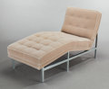 Furniture , Knoll International. Chaise Lounge. Chrome-plated steel, upholstery. 31 x 53 x 24 inches (78.7 x 134.6 x 61.0 cm). P...
