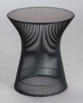 Furniture , WARREN PLATNER (American, 1919-2006). Side Table (Model 3710), 1966. Steel, smoked glass, plastic. 18 x 15-1/2 x 15-1/2 ...