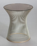 Furniture : American, WARREN PLATNER (American, 1919-2006). Side Table (Model3710), 1966. Chromed metal, glass, plastic. 18 x 15-1/2 x15-1/2...