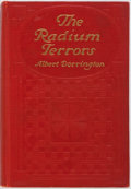 Books:Science Fiction & Fantasy, Albert Dorrington. The Radium Terrors. Garden City: Doubleday, 1912. First edition. Publisher's red blindstamped clo...