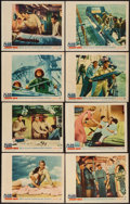 "Movie Posters:War, The Deep Six (Warner Brothers, 1958). Lobby Card Set of 8 (11"" X14""). War.. ... (Total: 8 Items)"