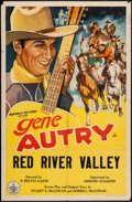 """Movie Posters:Western, Red River Valley (Republic, R-1940s). Stock One Sheet (27"""" X 41""""). Western.. ..."""