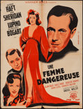 "Movie Posters:Drama, They Drive by Night (Warner Brothers, 1940). French Affiche (23.5"" X 31.5""). Drama.. ..."
