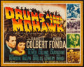 "Movie Posters:Adventure, Drums Along the Mohawk (20th Century Fox, 1939). Half Sheet (22"" X28""). Adventure.. ..."
