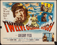 "Twelve O'Clock High (20th Century Fox, 1949). Half Sheet (22"" X 28""). War"