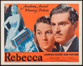 "Movie Posters:Hitchcock, Rebecca (Selznick Releasing, R-1948). Half Sheet (22"" X 28"").Hitchcock.. ..."