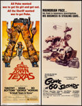 "Movie Posters:Action, Gone in 60 Seconds & Other Lot (New City Releasing, 1974). Inserts (2) (14"" X 36""). Action.. ... (Total: 2 Items)"