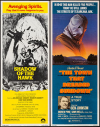 """The Town That Dreaded Sundown & Other Lot (American International, 1977). Inserts (2) (14"""" X 36""""). Thr..."""