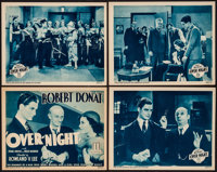 "That Night in London (Mundus, R-1934). Lobby Card Set of 4 (11"" X 14"") Reissue Title: Over-Night. Crime. ... (..."