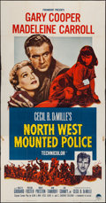 "Movie Posters:Adventure, North West Mounted Police (Paramount, R-1958). Three Sheet (41"" X79""). Adventure.. ..."