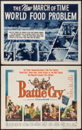 """Movie Posters:War, Battle Cry & Other Lot (Warner Brothers, 1955). Half Sheets (2)(22"""" X 28""""). War.. ... (Total: 2 Items)"""