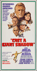"Movie Posters:War, Cast a Giant Shadow (United Artists, 1966). Three Sheet (41"" X79""). War.. ..."