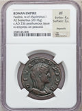 Ancients:Roman Imperial, Ancients: Diva Paulina, wife of Maximinus I (died before AD 235). Æsestertius (29mm, 20.16 gm, 12h)....