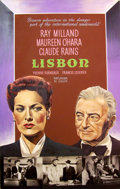 Mainstream Illustration, JOHN J. LOMASNEY (Irish, 1899-1989). Lisbon, 1956. Gouacheon artboard. 44 x 28 in.. ...