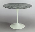 Furniture , EERO SAARINEN (American, 1910-1961). Small Round Dining Table with Tulip base (Model 172). Marble, wood, enameled metal... (Total: 2 Items)
