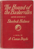 Books:Mystery & Detective Fiction, Sir Arthur Conan Doyle. The Hound of the Baskervilles. NewYork: Grosset & Dunlap, [1902]. Reprint. Publisher's red ...