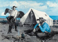 Paintings, CHARLES JR. HARGENS (American, 1893-1997). Chisholm Trail: The Last Frontier, 1939. Oil on canvas. 20 x 28 inches (50.8 ...