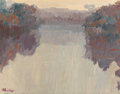 Fine Art - Painting, American:Contemporary   (1950 to present)  , SAM BARBER (American, b. 1943). Late Afternoon Reflections.Oil on board. 10-3/4 x 13-7/8 inches (27.3 x 35.2 cm). Signe...