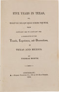 Books:Americana & American History, [Civil War]. Thomas North. Five Years in Texas; or, What You DidNot Hear During the War From January 1861 to January 18...