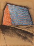 Prints, CHRISTO (American/Bulgarian, b. 1935). Texas Mastaba, Project for 500,000 Stacked Oil Drums (from America: The Third C...
