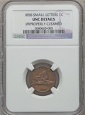 Flying Eagle Cents: , 1858 1C Small Letters -- Improperly Cleaned -- NGC Details. Unc.NGC Census: (4/709). PCGS Population (2/627). Numismedia ...