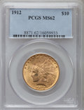 Indian Eagles: , 1912 $10 MS62 PCGS. PCGS Population (2124/1220). NGC Census:(2594/1316). Mintage: 405,083. Numismedia Wsl. Price for probl...
