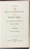Books:Biography & Memoir, [Slave Autobiography]. Henry Bibb. Narrative of His Life andAdventures. New York: N.p. [self-published], 1849. Publ...