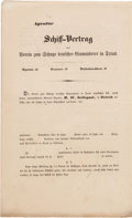 Miscellaneous:Ephemera, [German Immigration to Texas]. Unused Shipping Contract for theAssociation of German Immigrants in Texas....